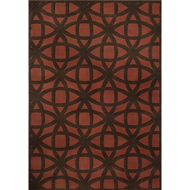 Miramar Rust/Brown Geometric Area Rug (710 x 100)