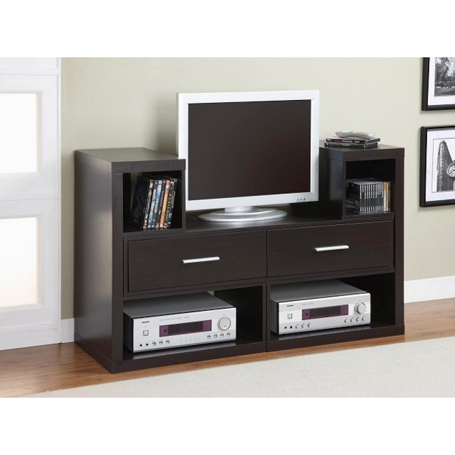 Cappuccino Wood TV Stand