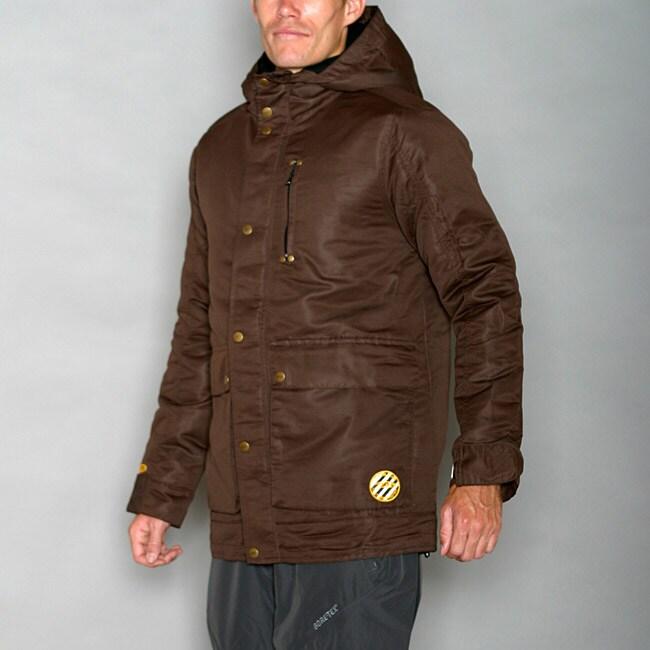 Pipeline Men's Solid Coffee Snowboard Jacket