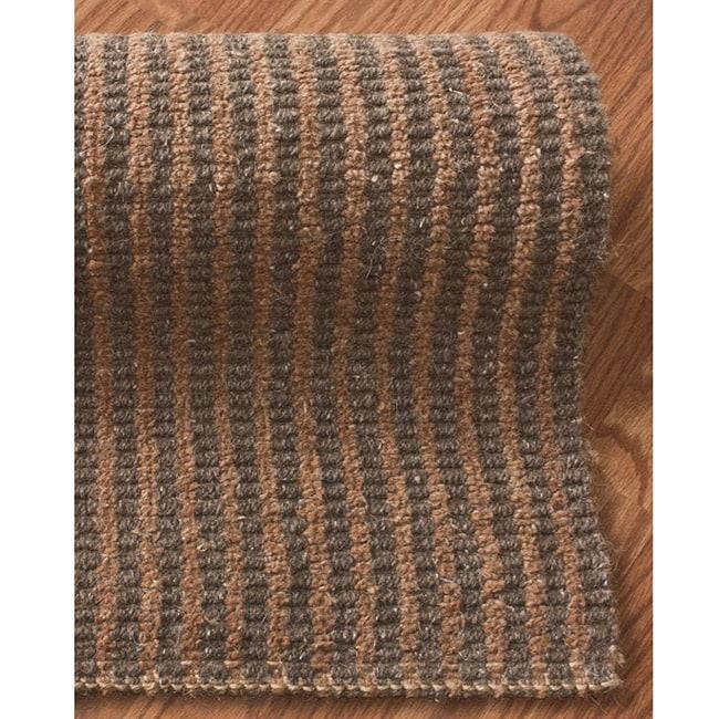 nuLOOM Handmade Texture Copenhagen Jute and Wool Rug (5' x 8')
