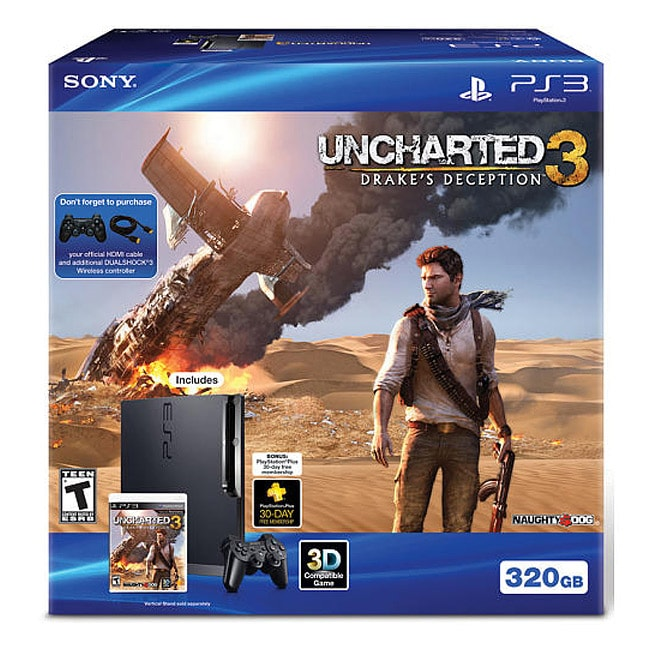 PS3 - 320gb Uncharted 3: Drake's Deception Bundle