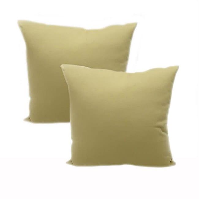 Bago Natural 18x18 Throw Pillows (Set of 2)
