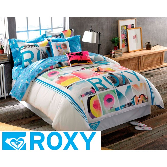roxy vibe full size 7 piece duvet cover bed in a bag 13887108 shopping great. Black Bedroom Furniture Sets. Home Design Ideas