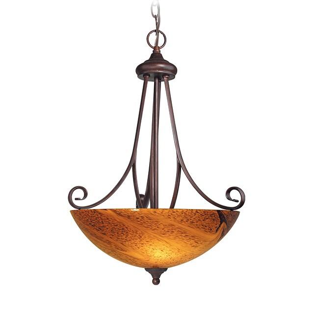Woodbridge Lighting Kenshaw 3-light Bordeaux Pendant