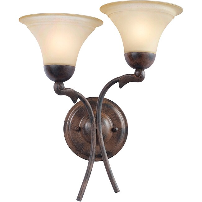 Woodbridge Lighting Darien 2-light Royal Bronze Wall Sconce