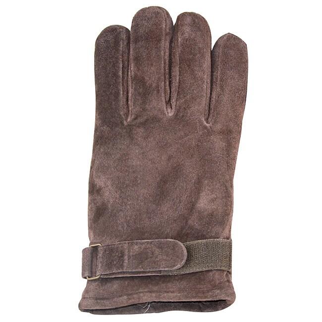 Isotoner Men's Extra Large Brown Suede Gloves
