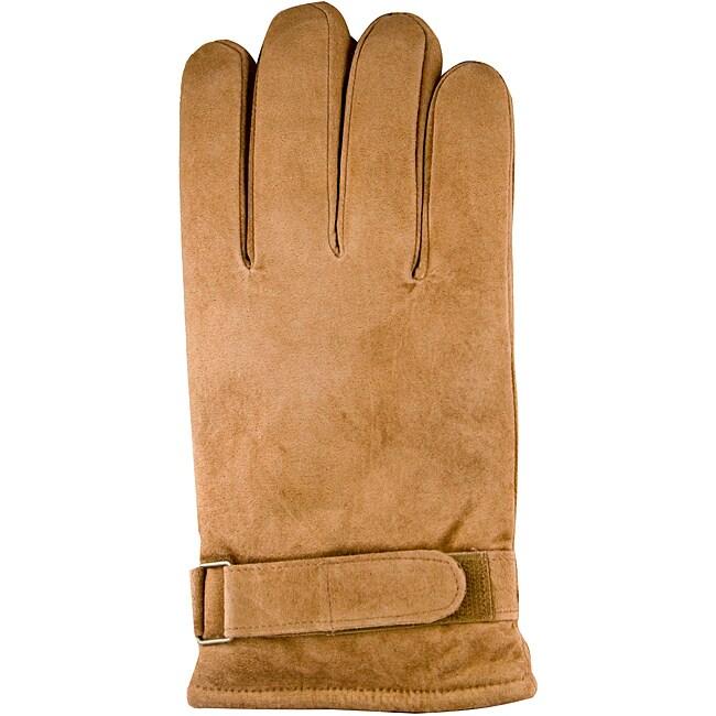 Isotoner Men's Extra Large Chestnut Suede Gloves