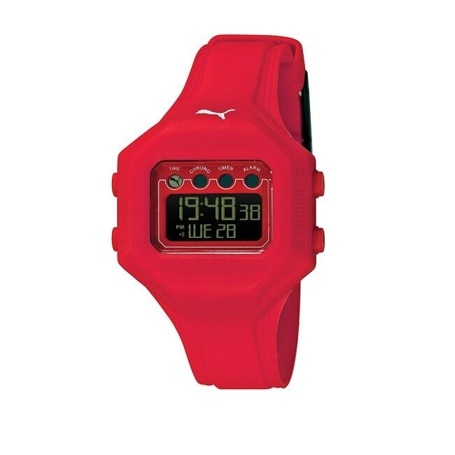 Puma Women's 'Bounce' Red Digital Watch