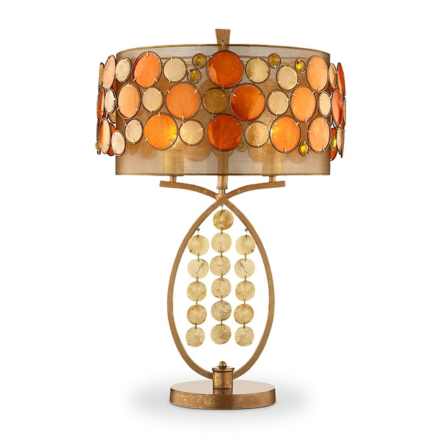 Isabela Orange Capiz Shell Table Lamp