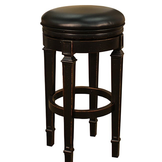 Brighton 30-inch Antique Black Swivel Bar Stool