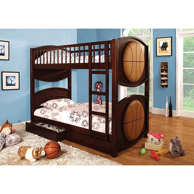 furniture of america twin basketball bunk bed set 13910661