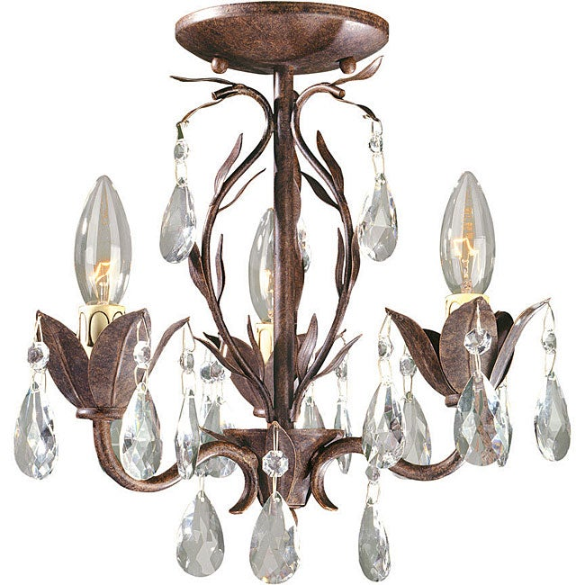 World Imports Bijoux Collection 3-light Semi-flush Convertible Chandelier