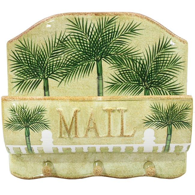 Palm Tree Collection Wall Hanging Mail And Key Holder