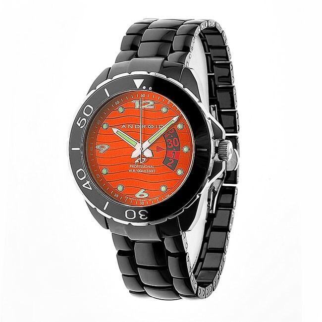 Android Men's Exotic Divemaster Quartz Ceramic Bracelet Watch