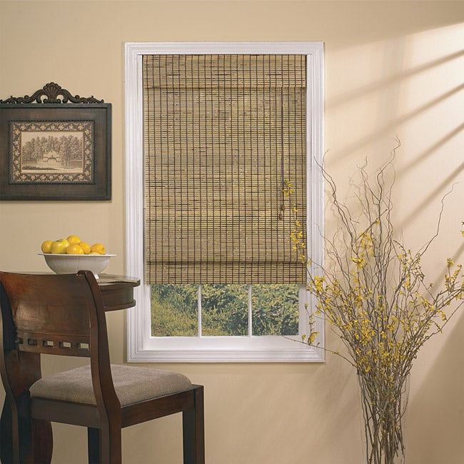 Deluxe Burnt Bamboo Roman Shade (60 in. x 66 in.)
