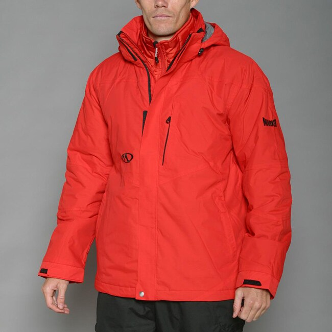Marker Men's 'Stealth' Flame Red 3-in-1 Jacket