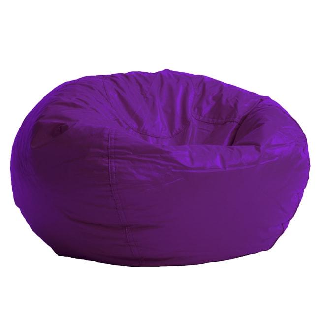 BeanSack Purple Vinyl Bean Bag Chair