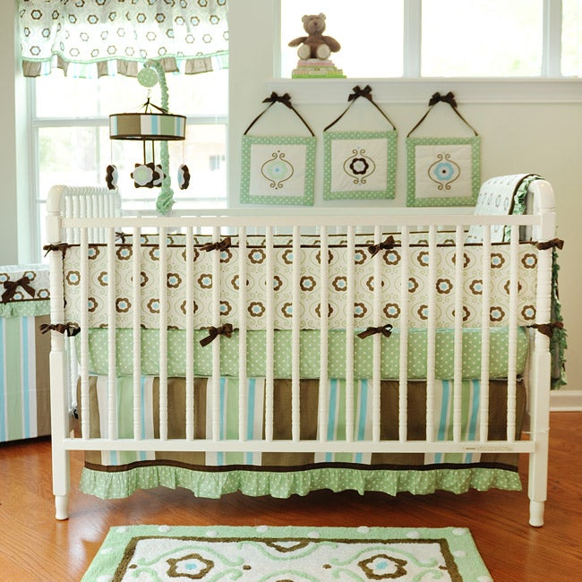 My Baby Sam Forget Me Not 4-piece Crib Bedding