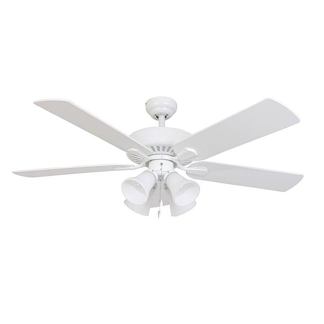 EcoSure Fair Haven 4-light White 52-inch Ceiling Fan