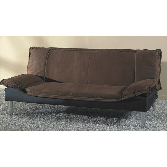Wilson dark brown sofa bed 13918251 for Sofa bed overstock