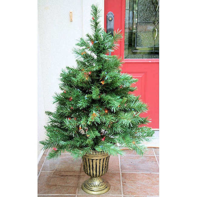 Fraser Fir 4-foot Pre-Lit Artificial Entrance Tree