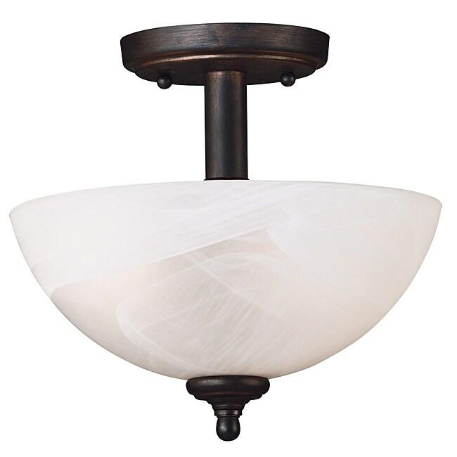 Lafayette 2-light Bronze Semi-flush