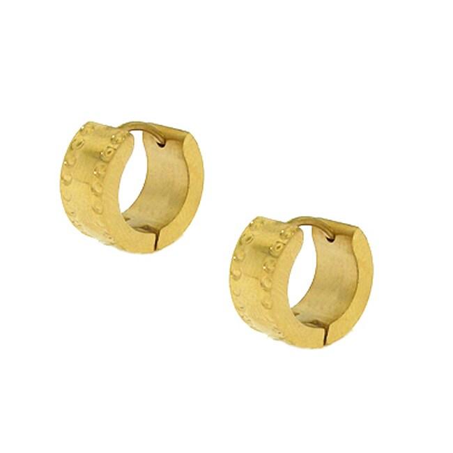 Stainless Steel Goldtone Hoop Earrings