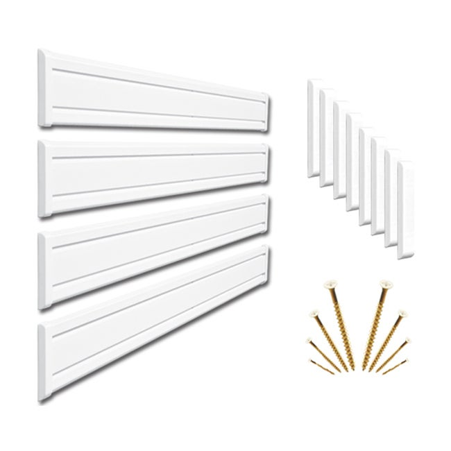 NewAge Products Interlocking PVC Wall Panel - White 6-Inch Panels