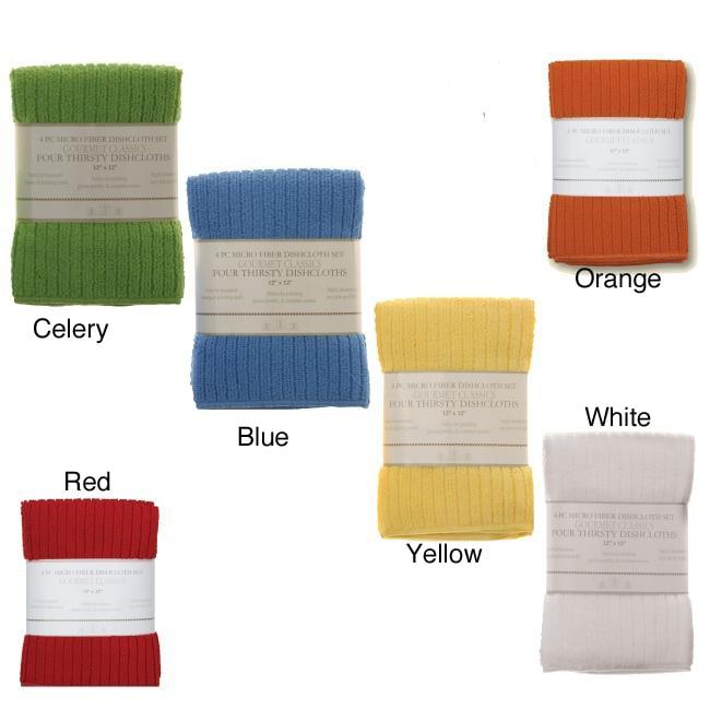 Gourmet Classics Microfiber Dish Cloths (Set of 8)