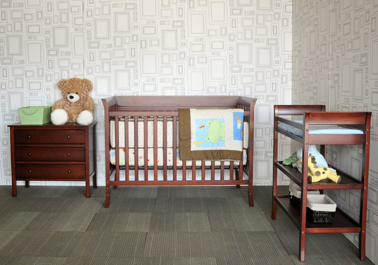 Ava Complete 5 piece Nursery Set by BabyMod in Cherry