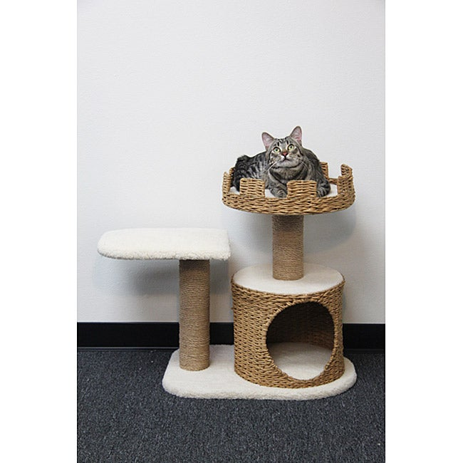 PetPals Go Green Sleep and See Cat Castle