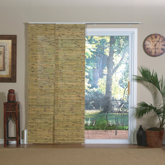 bamboo slider panel blinds for patio doors and windows 13925976