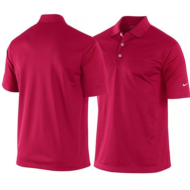 Nike men 39 s maroon dri fit stretch tech golf polo shirt for Maroon dri fit polo shirt