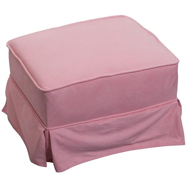 The Rockabye Glider Company Pink Microfiber Ottoman