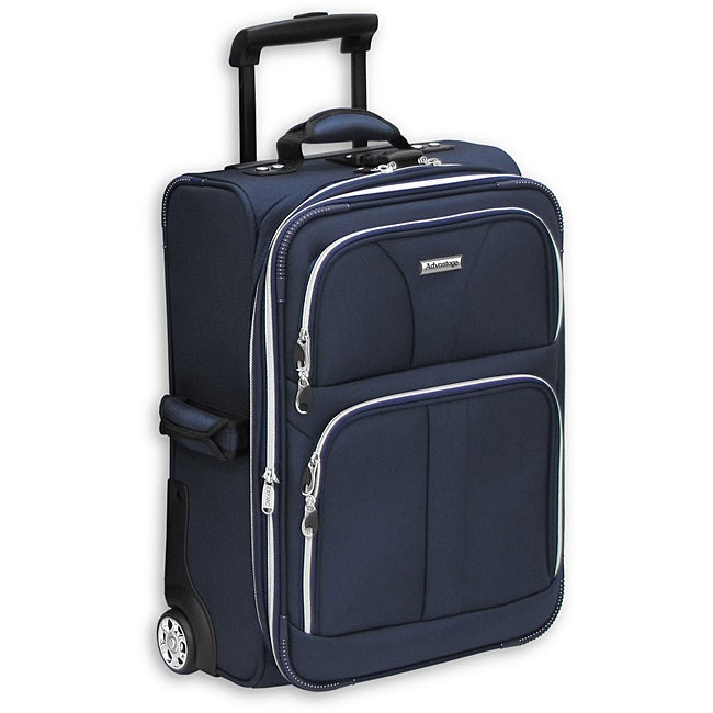 Advantange Silver Lites Navy 21-inch Expandable Carry-On Upright