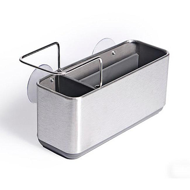 As Seen On TV Danya B Brushed Stainless Steel Sink Storage Caddy