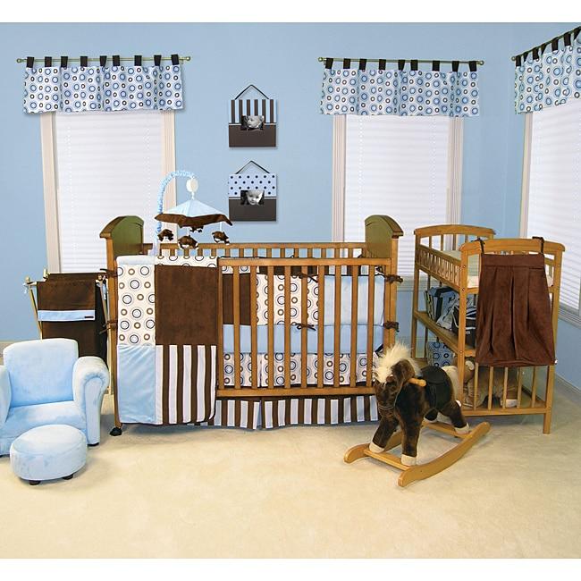 Trend Lab Blueberry 6-piece Crib Bedding Set
