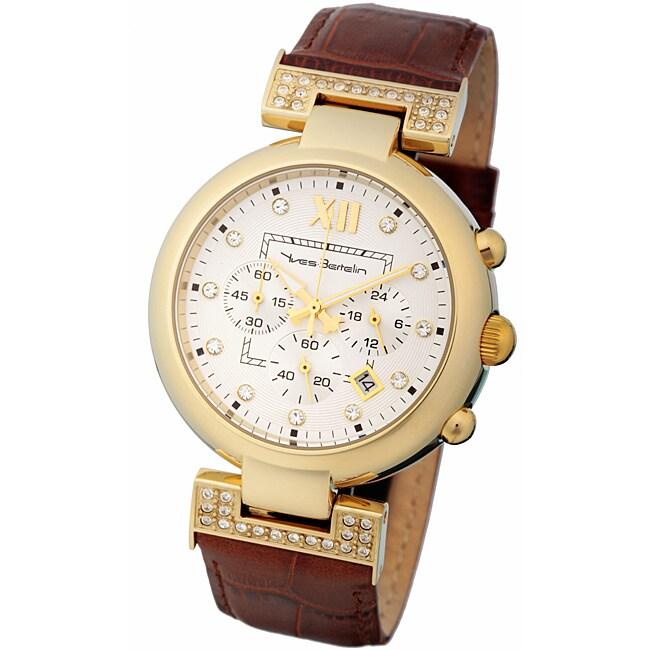 Yves Bertelin Paris Women's Brown Leather Strap Watch