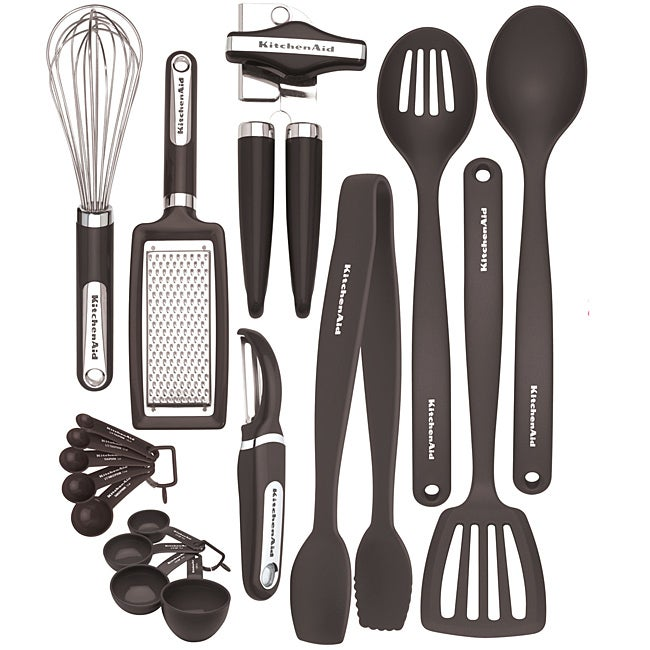 KitchenAid Black 17-piece Kitchen Tool and Gadget Set