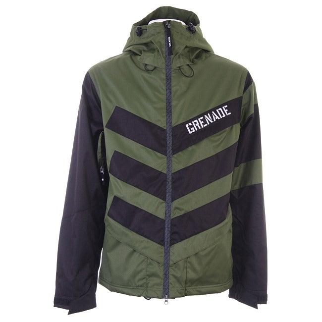 Grenade Men's Green Chevron Snowboard Jacket