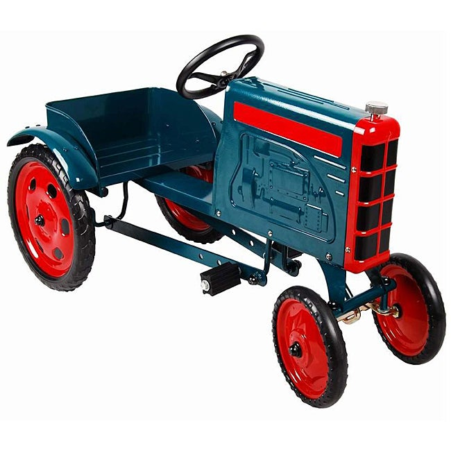 Green Tractor Pedal Car