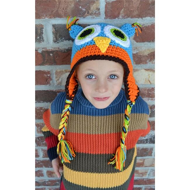 WhooHats Boy's Owl Crochet Hat