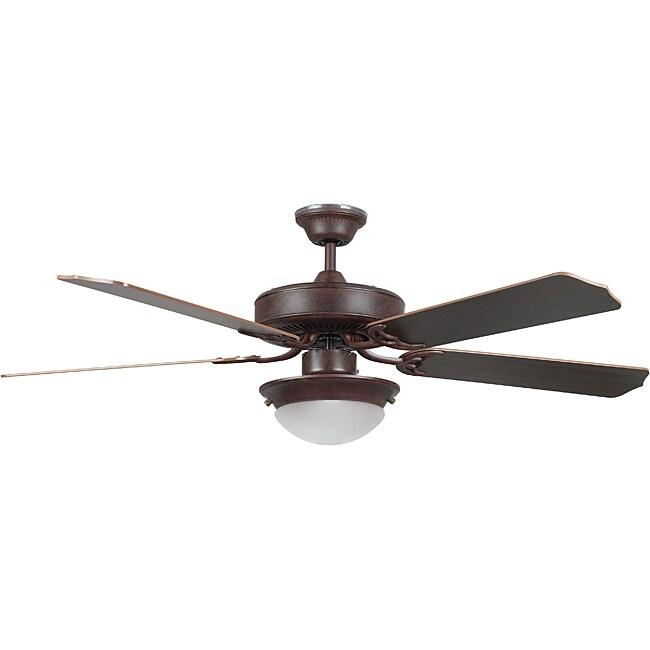 Twist-on Glass 52-inch Ceiling Fan