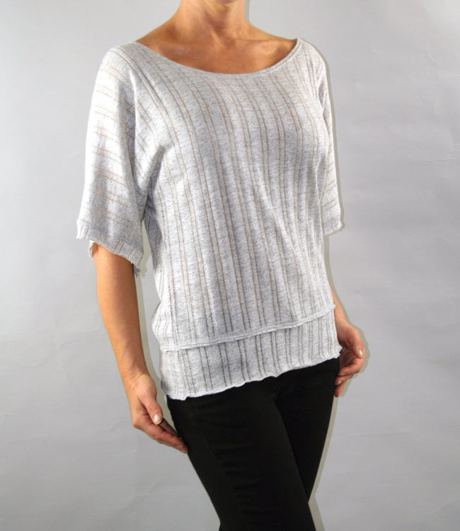 Institute Liberal Kimono Sleeve Sweater Knit Blouse