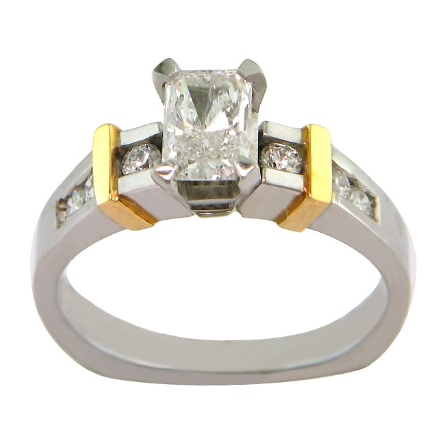 14k Gold 7/8ct TDW Certified Clarity-enhanced Diamond Engagement Ring (G-H,SI2 )