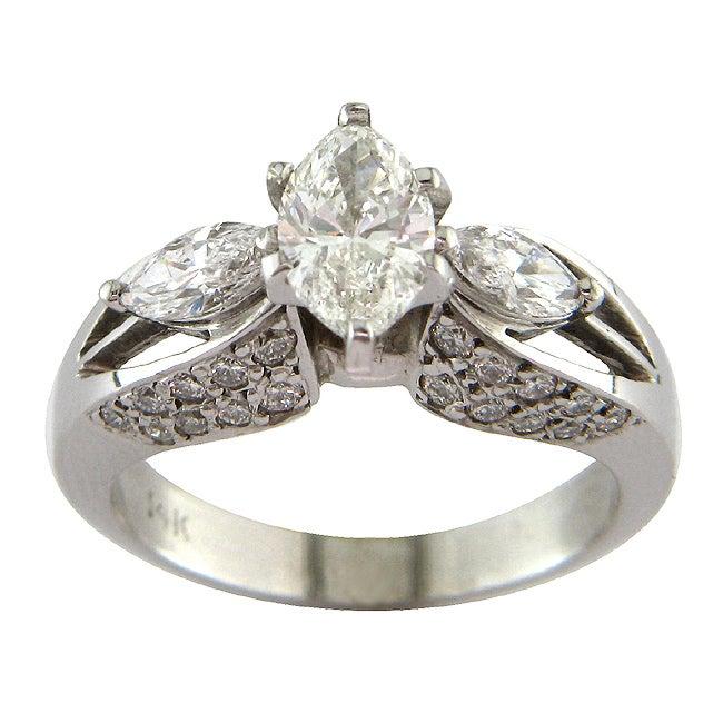 14k White Gold 1 7/8ct TDW Certified Clarity-Enhanced Diamond Engagement Ring (I-J,VS2 )