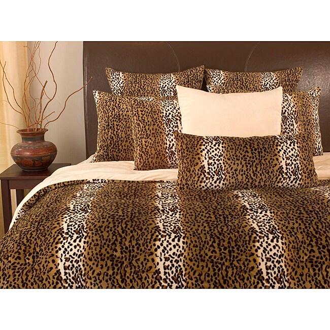 Microplush Cheetah Print King-size 3-piece Comforter Set