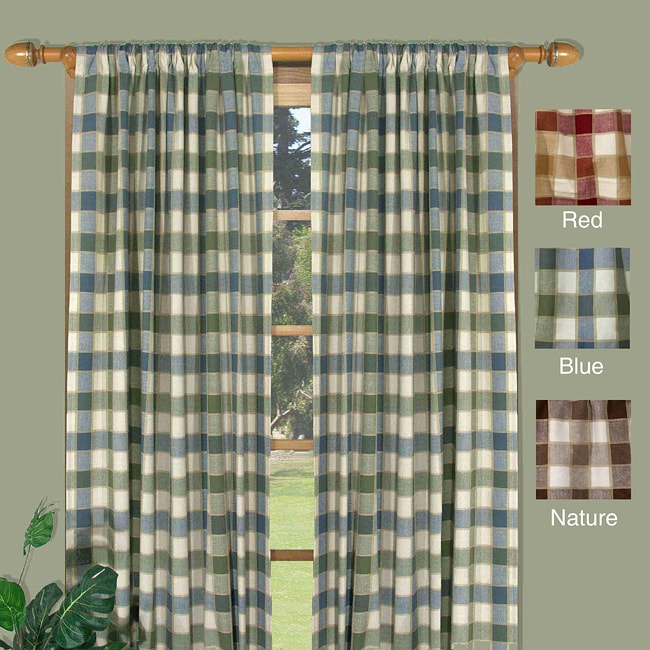 Ricardo Plymouth 72-inch Plaid Woven Tailored Curtain Panels (Set of 2) at Sears.com