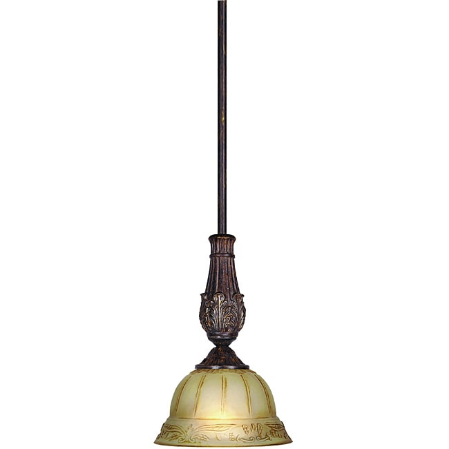 Woodbridge Lighting Lucerne 1-light Old World Bronze Mini Pendant