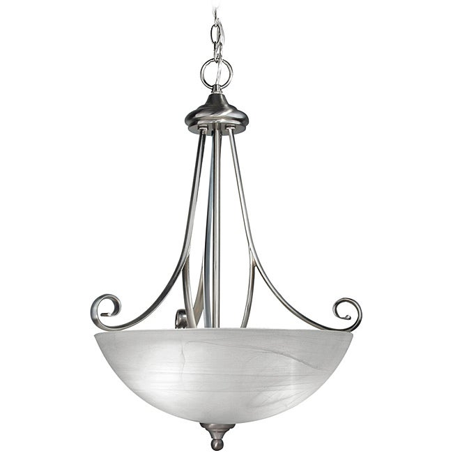 Woodbridge Lighting Kenshaw 3-light Satin Nickel Pendant